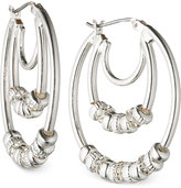 Nine West Silver-Tone Triple Hoop Earrings