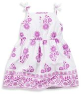 Carter's Size 6M 2-Piece Floral Tie-Strap Sundress and Diaper Cover Set in White/Purple