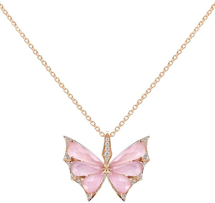 Stephen Webster Rose Gold and Diamond Fly By Night Crystal Haze Pendant