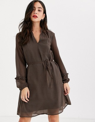 JDY Serena long sleeve chiffon dress