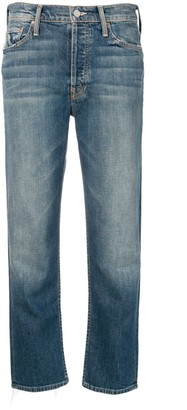Mother Cropped Straight-Leg Denim