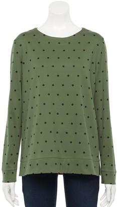 Croft & Barrow Women's Extra Soft Crewneck Sweatshirt