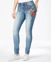 Indigo Rein Juniors' Embroidered Skinny Jeans