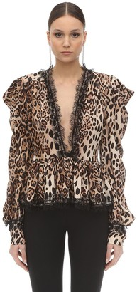 Animalier Printed Georgette Blouse