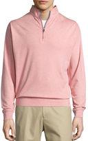 Peter Millar Heather Interlock Quarter-Zip Sweater