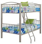 Powell Company Twin Over Twin Bunk Bed Pewter