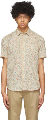 Clot White Floral Trimmy Shirt