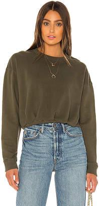 David Lerner Gathered Volume Sleeve Sweatshirt