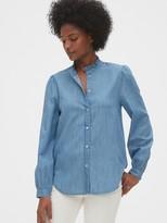 Gap Denim Ruffle-Neck Shirt