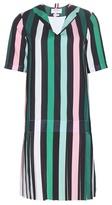 Thom Browne Drop Waist Pleat Printed Dress