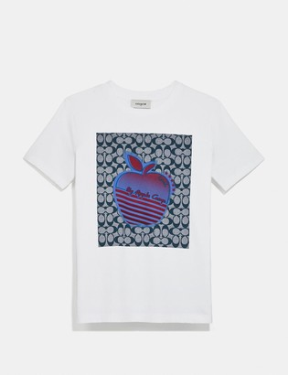 Coach Apple Graphic Camp T-Shirt