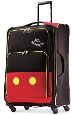 """American Tourister Disney Mickey Mouse Pants 28"""" Spinner Suitcase"""