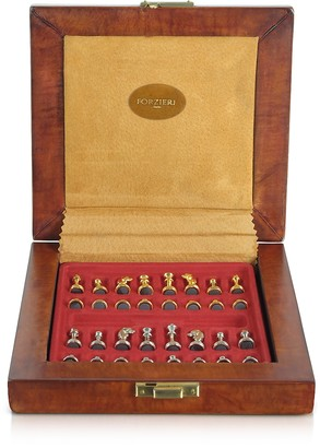 Forzieri Genuine Leather Chess Board with Magnetic Pieces