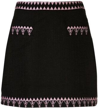 Cynthia Rowley Nicola tweed mini skirt