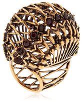 Alcozer & J Brass Ring W/ Garnet Stones