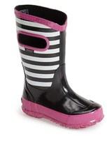Bogs Girl's Stripe Waterproof Rain Boot