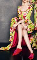 Naeem Khan Floral Three Quarter Sleeve Dress