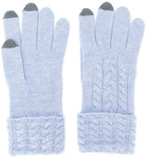 N.Peal tipped gloves - women - Cashmere - One Size