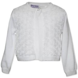 Blueberi Boulevard Baby Girls Rosette Cardigan Sweater
