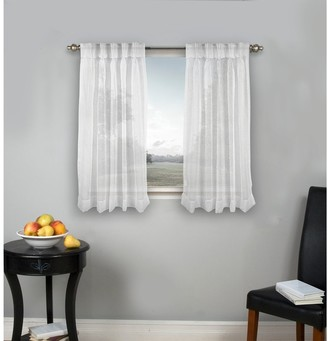 Ricardo Palm Beach Pinch-Pleated Top with Back Tabs Short Curtain Panel Pair