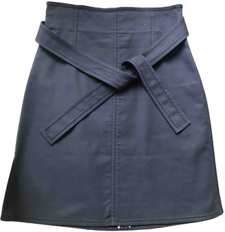 Louis Vuitton Blue Cotton - elasthane Skirt for Women