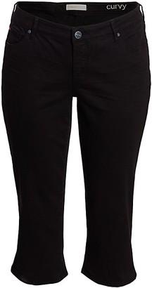 Slink Jeans, Plus Size Straight Capri Jeans