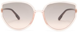 Christian Dior Sostellaire 4 Oversized Cat-eye Acetate Sunglasses - Light Pink