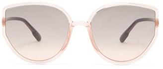 Christian Dior Sostellaire 4 Oversized Cat-eye Acetate Sunglasses - Light Pink