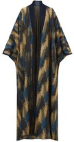 Missoni Metallic Jacquard-knit Cape Cardigan - Womens - Navy Gold