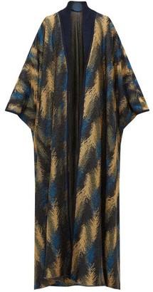 Missoni Metallic Jacquard-knit Cape Cardigan - Womens - Navy Gold