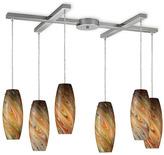 Bed Bath & Beyond ELK Lighting Vortex 6-Light Pendant Ceiling Lamp (Satin Nickel/Rainbow)