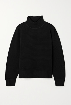Nagnata - Net Sustain Ribbed Organic Cotton Turtleneck Sweater - Black