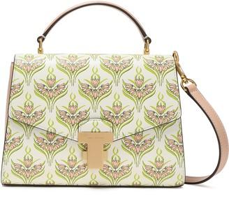 Tory Burch Embossed Floral-print Leather Shoulder Bag