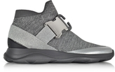 Christopher Kane High top Lurex Grey & Silver Sneaker