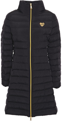 Love Moschino Appliqued Quilted Shell Coat