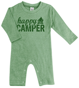 Urban Smalls Heather Green 'Happy Camper' Playsuit - Infant