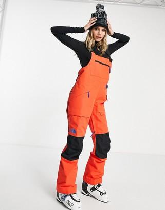 The North Face Team Kit ski bib in red