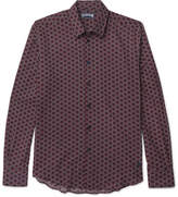 Vilebrequin Printed Cotton-voile Shirt - Red
