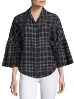 Tome Plaid Button Front Shirt