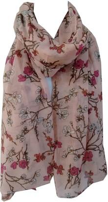 GlamLondon Oriental Blossom Scarf Womens Floral Printed Large Soft Sarong Shawl Ladies Wrap (Pink)