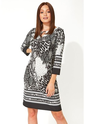M&Co Roman Originals animal border print shift dress