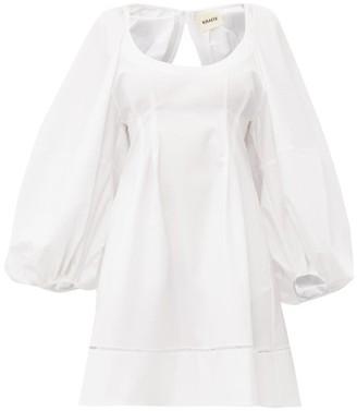 KHAITE Madison Ladder-lace Open-back Cotton Midi Dress - Womens - White
