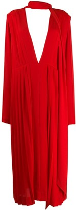 Victoria Beckham Scarf-Detail Midi Dress