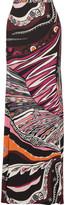 Emilio Pucci Printed stretch-jersey maxi skirt