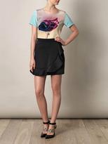 Lulu & Co Balloon-print silk top