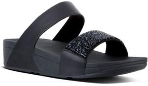 FitFlop Women's Sparklie Crystal Slide Sandal Women's Shoes