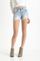 Blank Hi-Rise Distressed Cut Off Denim Shorts