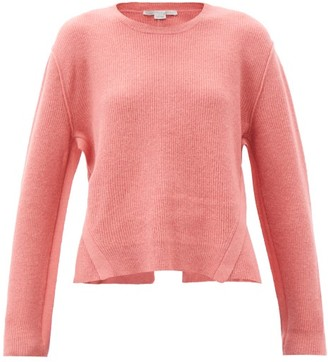 Stella McCartney Slit-back Wool-blend Sweater - Light Pink