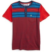 Original Penguin Boy's Henley T-Shirt
