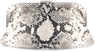 Balenciaga XS Cloud Clutch in Black & White | FWRD